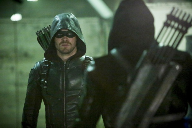 "Arrow -- ""Who Are You?"" -- Image AR510b_0055b.jpg -- Pictured: Stephen Amell as Green Arrow -- Photo: Bettina Strauss/The CW -- © 2016 The CW Network, LLC. All Rights Reserved."
