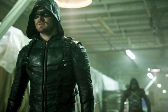 "Arrow -- ""Who Are You?"" -- Image AR510b_0041b.jpg -- Pictured: Stephen Amell as Green Arrow -- Photo: Bettina Strauss/The CW -- © 2016 The CW Network, LLC. All Rights Reserved."