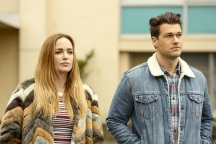 "DC's Legends of Tomorrow --""Raiders of the Lost Art""-- LGN209c_0050.jpg -- Pictured (L-R): Caity Lotz as Sara Lance/White Canary and Nick Zano as Nate Heywood/Steel -- Photo: Bettina Strauss/The CW -- © 2017 The CW Network, LLC. All Rights Reserved"