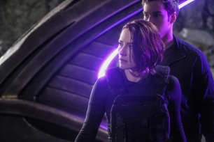 "Supergirl -- ""Supergirl Lives"" -- Image SPG209a_0353.jpg -- Pictured (L-R): Chyler Leigh as Alex Danvers and Chris Wood as Mike/Mon-El -- Photo: Robert Falconer/The CW -- © 2017 The CW Network, LLC. All Rights Reserved"