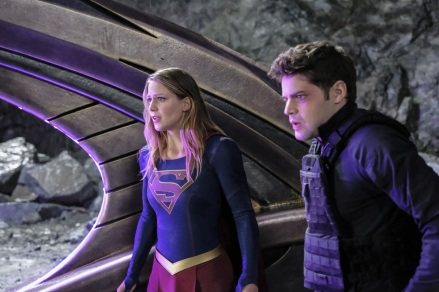 """Supergirl -- """"Supergirl Lives"""" -- Image SPG209a_0416.jpg -- Pictured (L-R): Melissa Benoist as Kara/Supergirl and Jeremy Jordan as Winn Schott -- Photo: Robert Falconer/The CW -- © 2017 The CW Network, LLC. All Rights Reserved"""