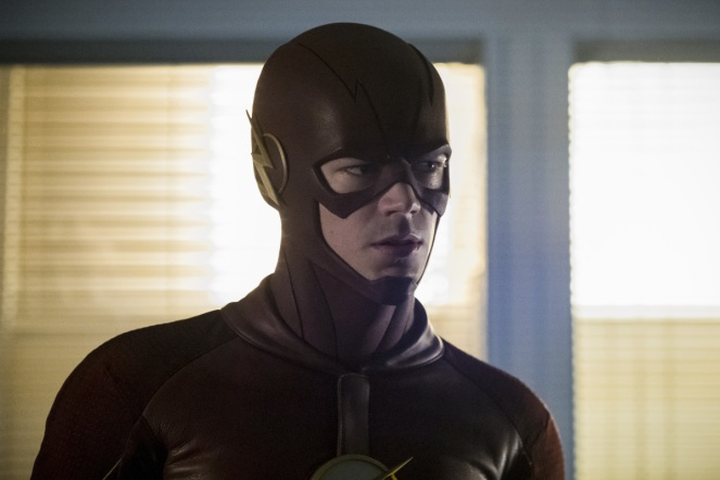 """The Flash -- """"Borrowing Problems from the Future"""" -- Image FLA310a_0069b.jpg -- Pictured: Grant Gustin as The Flash -- Photo: Katie Yu/The CW -- © 2016 The CW Network, LLC. All rights reserved."""