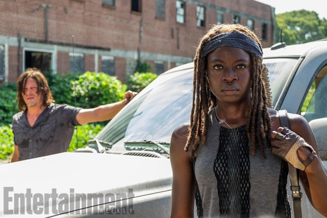 Norman Reedus as Daryl Dixon, Danai Gurira as Michonne
