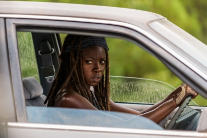 Danai Gurira as Michonne - The Walking Dead _ Season 7, Episode 9 - Photo Credit: Gene Page/AMC