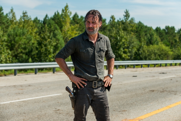 Andrew Lincoln as Rick Grimes - The Walking Dead _ Season 7, Episode 9 - Photo Credit: Gene Page/AMC