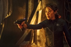 Pictured: Michelle Yeoh as Captain Philippa Georgiou. STAR TREK: DISCOVERY coming to CBS All Access. Photo Cr: Jan Thijs © 2017 CBS Interactive. All Rights Reserved.